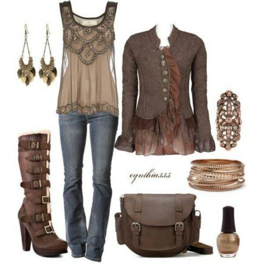 Various fashion outlets today, incorporate Steampunk clothing influence into their designs
